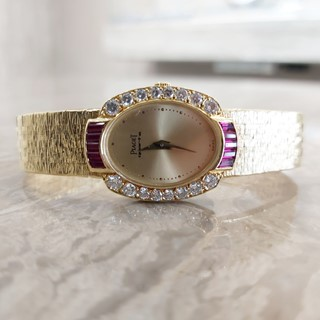 Piaget Ladies Vintage Watch With Ruby Stones